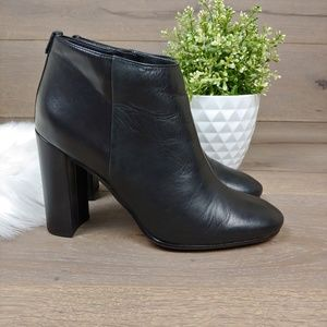 Sam Edelman Black Leather Heeled Booties
